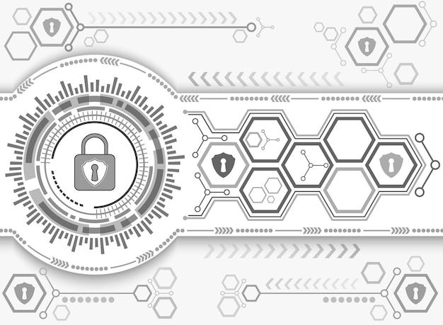 Tecnologia astratta di sfondo del sistema di sicurezza