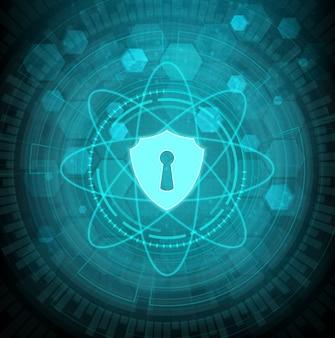 Tecnologia astratta del fondo di concetto del sistema di sicurezza