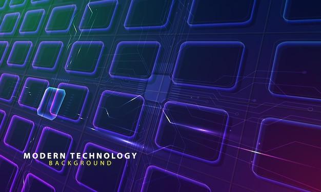 Fondo leggero di forma astratta di tecnologia
