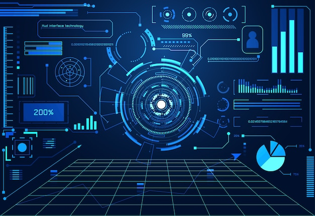 Tecnologia astratta ui concetto futuristico hud interface hologram