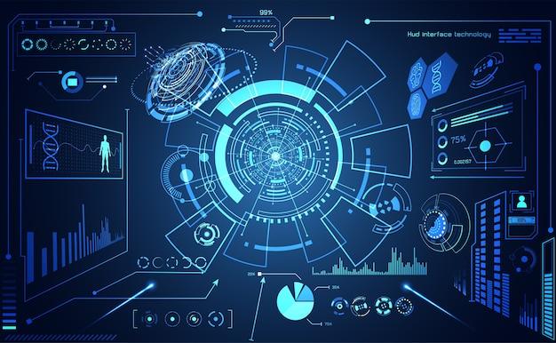 Tecnologia astratta ui futuristico hud interface hologram