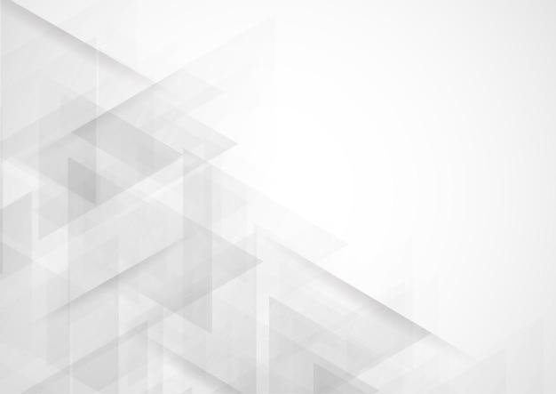Progettazione moderna del fondo di colore bianco e grigio di tecnologia astratta Vettore Premium