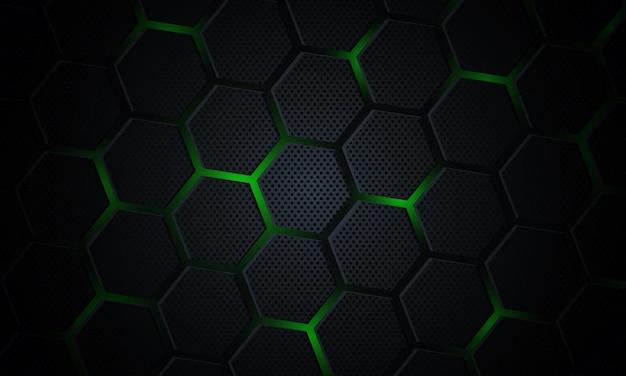 Tecnologia astratta con sfondo esagonale.