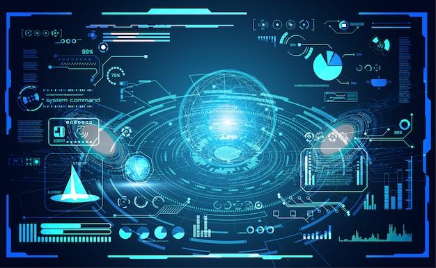 Mondo astratto tecnologia digitale