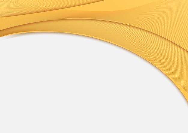 Curva di intestazione modello astratto giallo con linea.