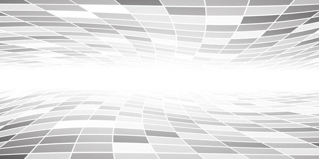 Fondo piastrellato astratto con prospettiva nei colori grigi