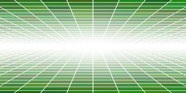 Fondo piastrellato astratto con la prospettiva nei colori verdi
