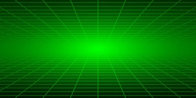 Fondo piastrellato astratto con prospettiva nei colori verdi