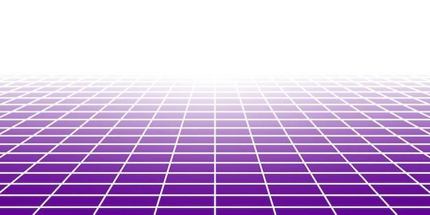 Sfondo piastrellato astratto con prospettiva in colori viola