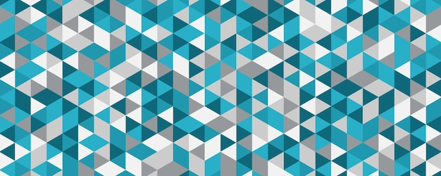 Modello astratto triangolo blu verde tosca
