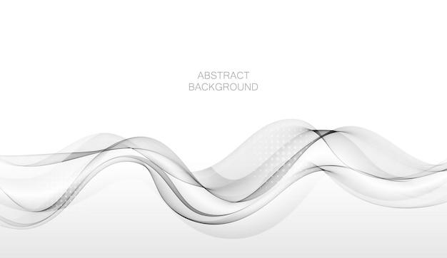 Design certificato astratto grigio trasparente con linee di velocità swoosh. illustrazione vettoriale