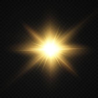 Luce solare trasparente astratta effetto luce speciale riflesso lente