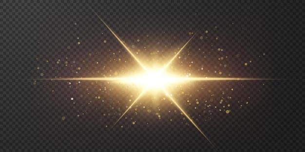 Luce solare trasparente astratta lente speciale bagliore effetto luce.