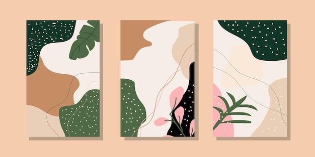 Modelli di sfondo artistico universale alla moda astratti buoni per la copertina del cartellone dell'insegna dell'invito