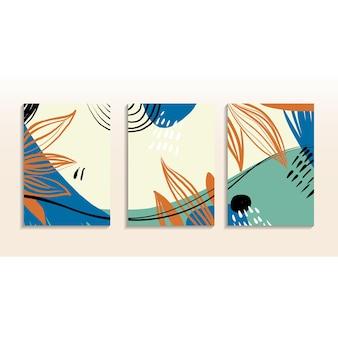 Set di arte astratta alla moda da parete art design per la brochure della bandiera dell'invito del manifesto della stampa della copertura