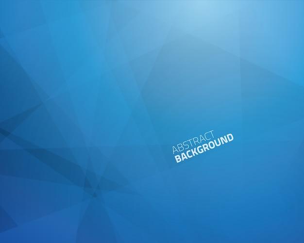 Astratto triangolo blu business sfondo vettoriale