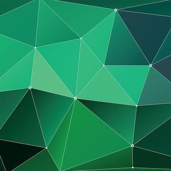 Fondo multicolore geometrico astratto del triangolo, verde