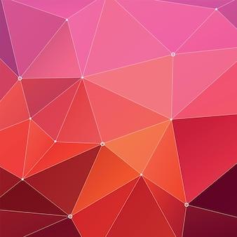 Fondo multicolore geometrico astratto del triangolo, red