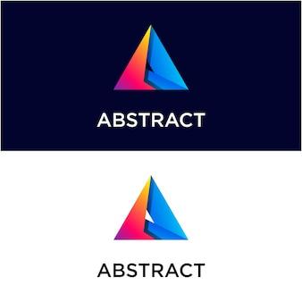 Modello di logo sfumato triangolo astratto