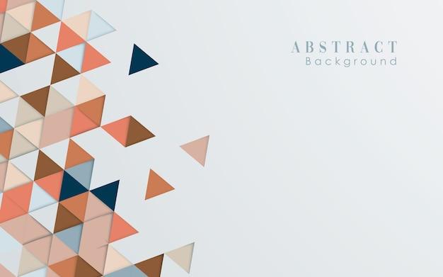 Fondo astratto di colore di forma del triangolo Vettore Premium
