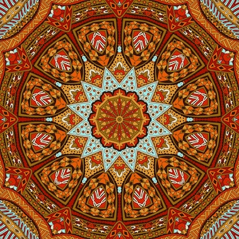 Estratto tribale vintage autunno colore etnico senza cuciture ornamentale