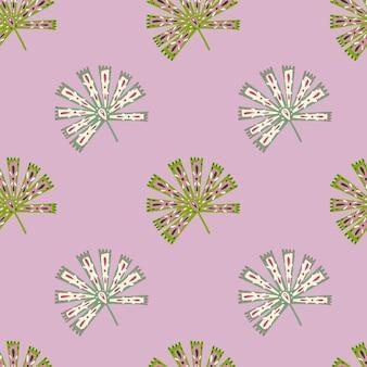 Modello senza cuciture di natura tropicale astratta con palma licuala folk in stile geometrico