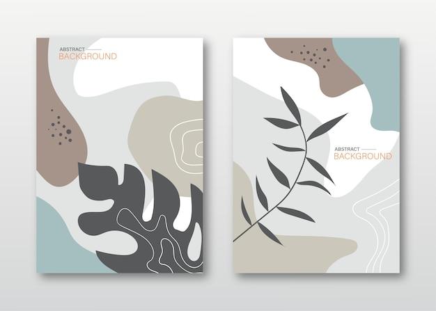 Copertine di foglie tropicali astratte