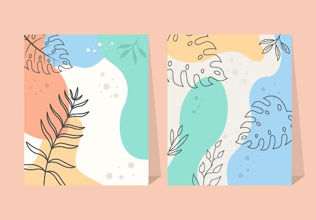 Fondo tropicale astratto del manifesto del fiore degli elementi delle foglie tropicali