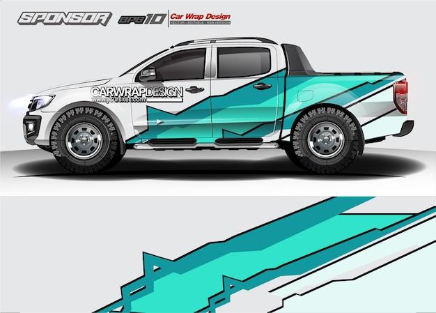Riassunto per camion, design del rivestimento per auto da corsa e livrea del veicolo