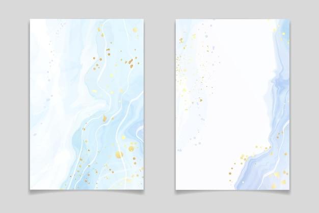 Fondo astratto dell'acquerello marmorizzato liquido turchese e verde acqua blu