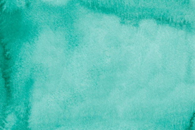 Acquerello astratto turchese. trama acquerello disegnato a mano