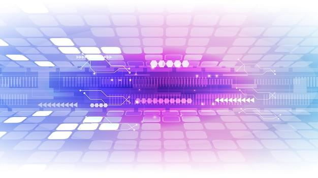 Interfaccia utente hud astratta da elementi futuristici. env 10.