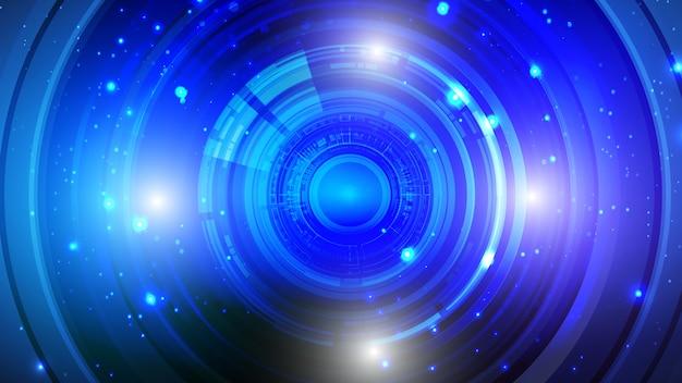 Interfaccia utente astratta hud da elementi futuristici luminosi.