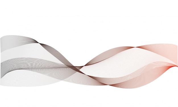 Sfondo vettoriale astratto, colorate linee ondulate trasparenti