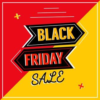 Fondo astratto della disposizione di vendita di black friday di vettore Vettore Premium
