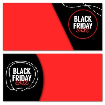 Insieme astratto di vettore degli sfondi del layout di vendita del black friday per il marketing del black friday