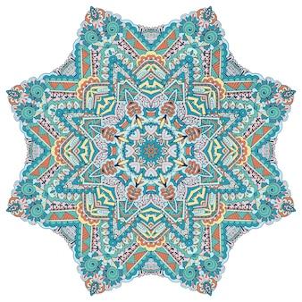 Modello di medaglione decorativo vintage astratto. ornamento etnico mandala