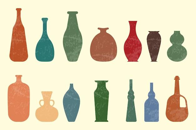 Collezione di vasi vintage astratti