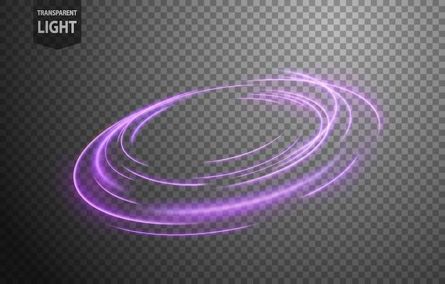 Linea di luce ondulata viola astratta