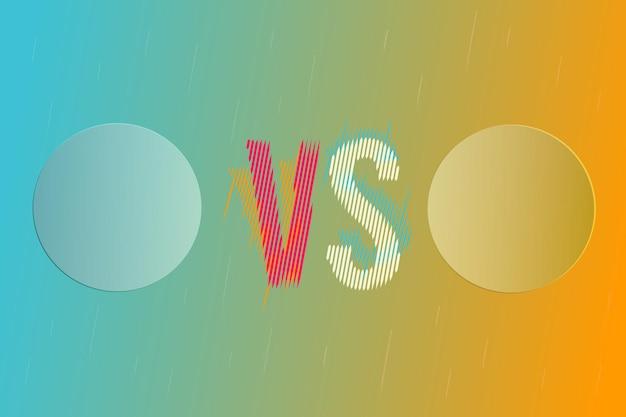 Abstract vs rispetto allo sfondo per il confronto delle differenze. modello vettoriale