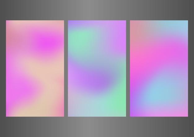 Design astratto della carta da parati per l'interfaccia mobile set di sfondi vettoriali per poster di modelli