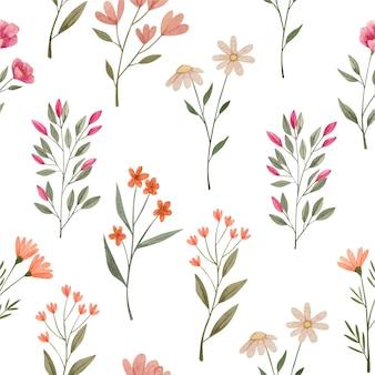 Motivi floreali ad acquerello astratti