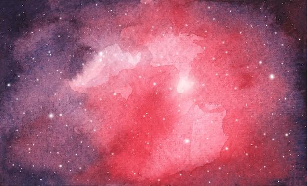 Fondo astratto del cielo della galassia dell'acquerello, struttura cosmica con le stelle. cielo notturno.