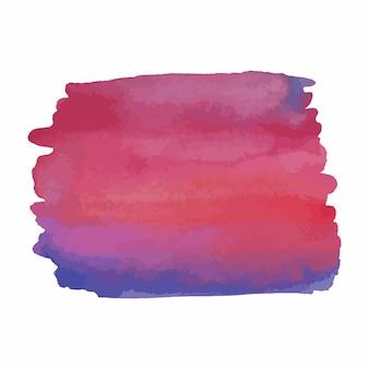 Struttura disegnata a mano dell'acquerello astratto, isolato su sfondo bianco, sfondo blu e rosso sfumato di struttura dell'acquerello