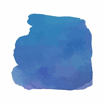 Struttura disegnata a mano dell'acquerello astratto, isolata su fondo bianco, sfondo blu di struttura dell'acquerello