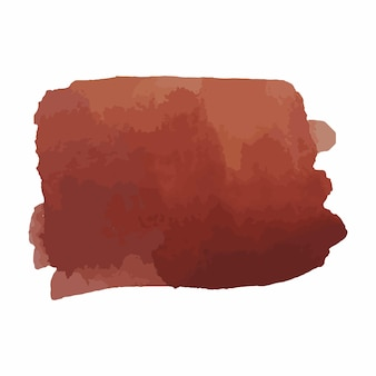 Struttura disegnata a mano dell'acquerello astratto, isolato su sfondo bianco, sfondo marrone caldo di struttura dell'acquerello
