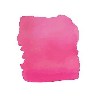 Acquerello astratto disegnato a mano trama, isolato su sfondo bianco, sfondo rosa trama acquerello buono per il design di natale