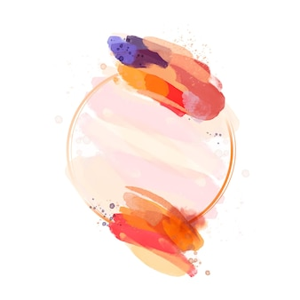 Cornice dipinta ad acquerello astratto