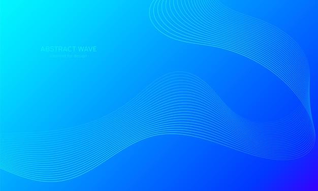 Sfondo astratto onda. sfondo colorato con linea ondulata. Vettore Premium