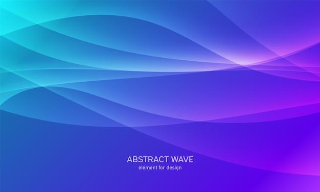 Sfondo astratto onda sfondo colorato con linea ondulata.